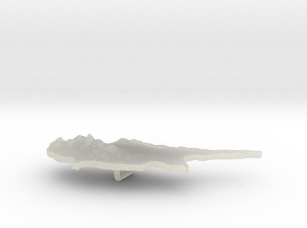 Cyprus Terrain Silver Pendant 3d printed