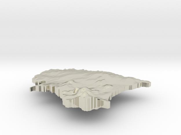 Estonia Terrain Silver Pendant 3d printed