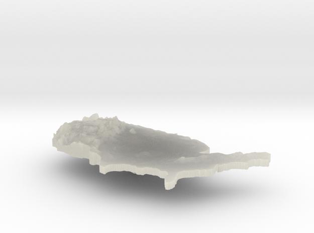 United States Terrain Silver Pendant 3d printed