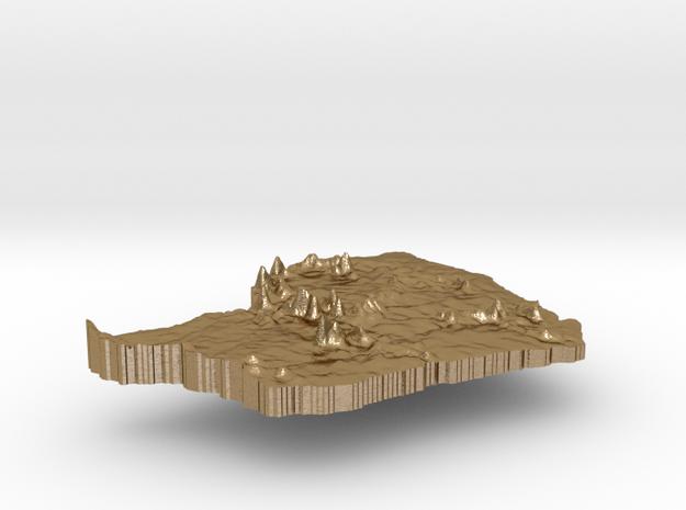 French Guiana Terrain Silver Pendant 3d printed