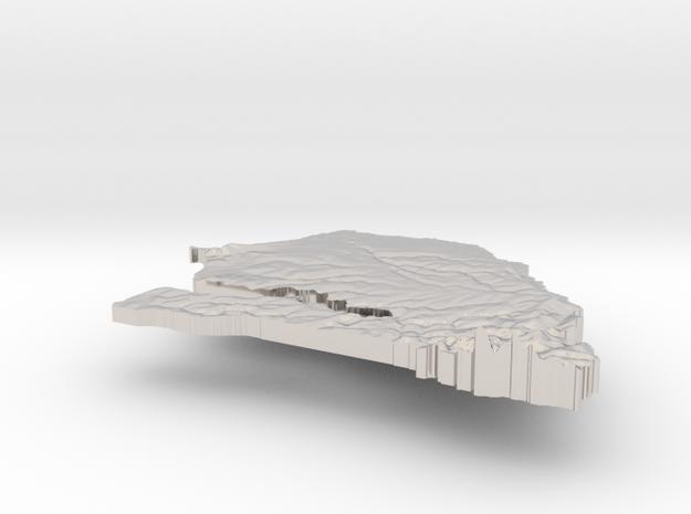 Senegal Terrain Silver Pendant 3d printed