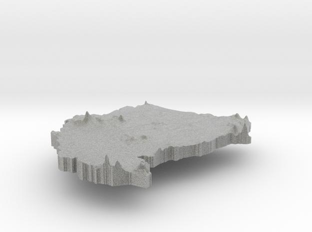 Sudan Terrain Silver Pendant 3d printed