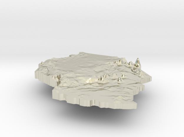 Tanzania Terrain Silver Pendant 3d printed