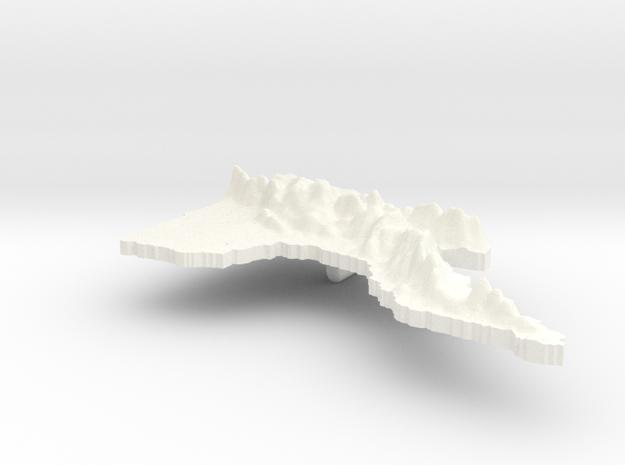Papua New Guinea Terrain Silver Pendant 3d printed