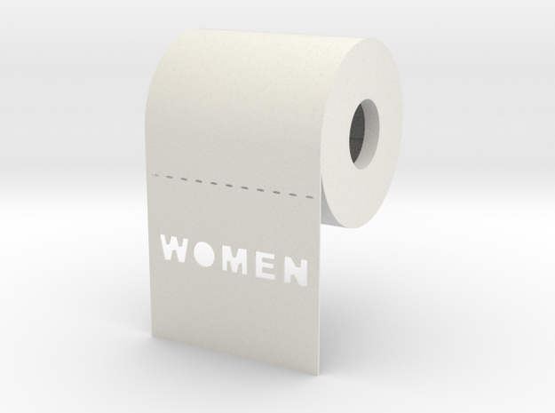 DRAW contest - sign WOMEN unrolls in front 3d printed