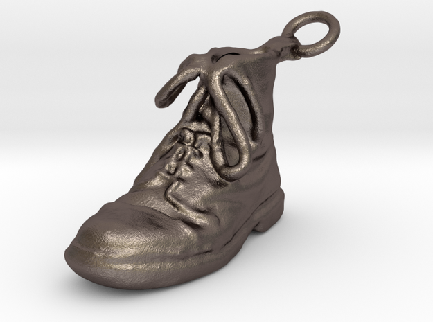 Boot Left in Polished Bronzed Silver Steel