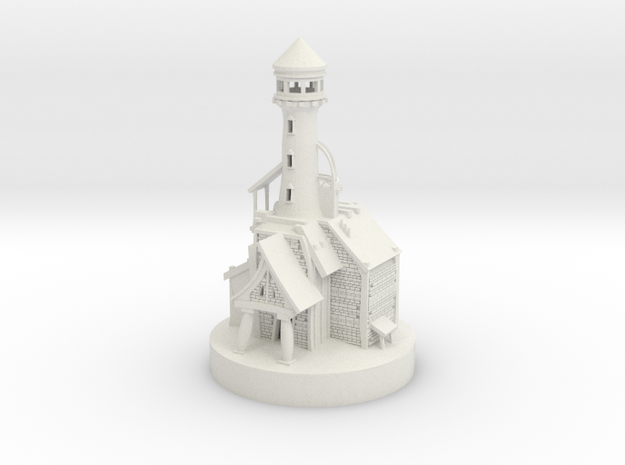 Lighthouse miniature in White Strong & Flexible