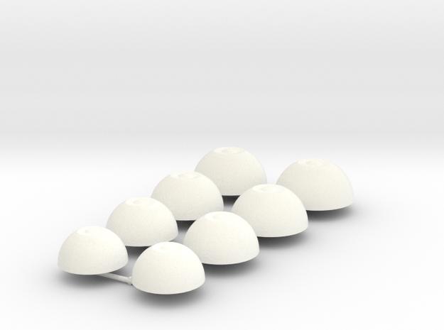 BJD DIY eyes with smaller iris (14,16,18,20mm) in White Processed Versatile Plastic