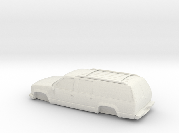 1/87 1999 Chevrolet Suburban in White Natural Versatile Plastic