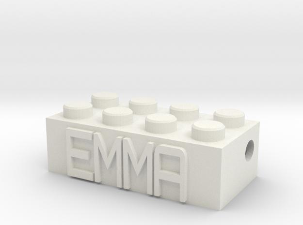 EMMA in White Natural Versatile Plastic