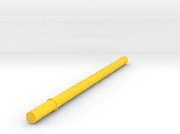 Key Handle Shaft (4 of 9) in Yellow Strong & Flexible Polished