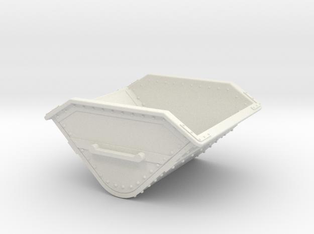 1:35 or Gn15 small skip body in White Natural Versatile Plastic