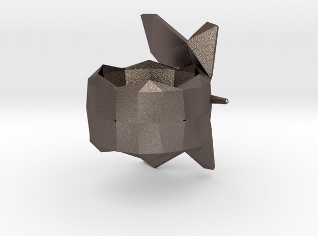 Napkin Holder Butterfly in Polished Bronzed Silver Steel