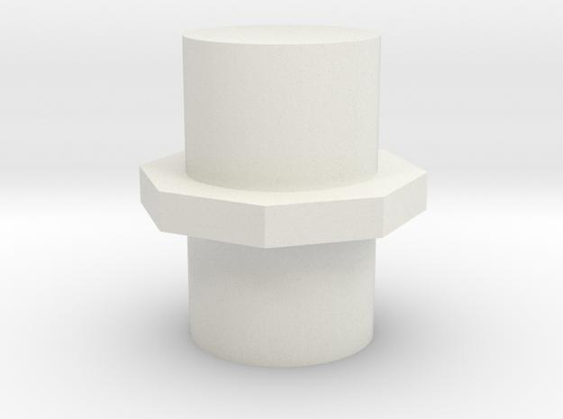 5 Mm Post in White Natural Versatile Plastic