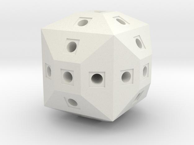 12x12y12z Block in White Natural Versatile Plastic