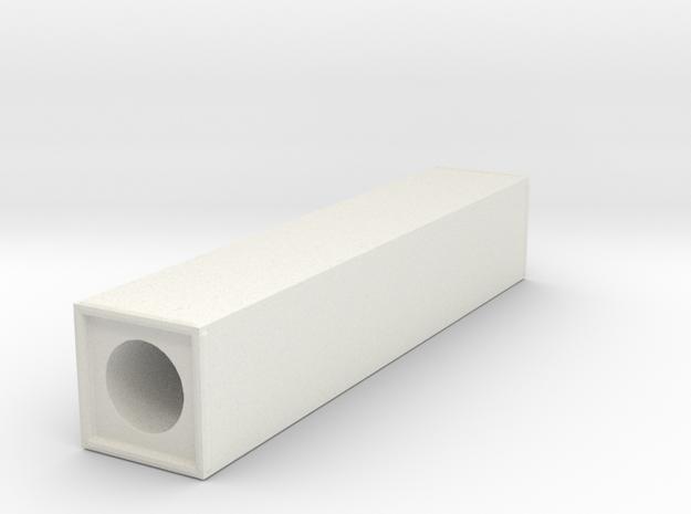 Thin Block  3  in White Natural Versatile Plastic
