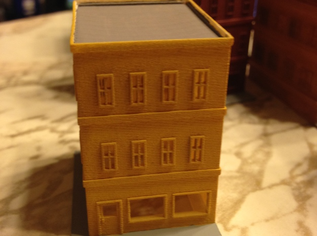 City Corner Building right side 1  in Smooth Fine Detail Plastic