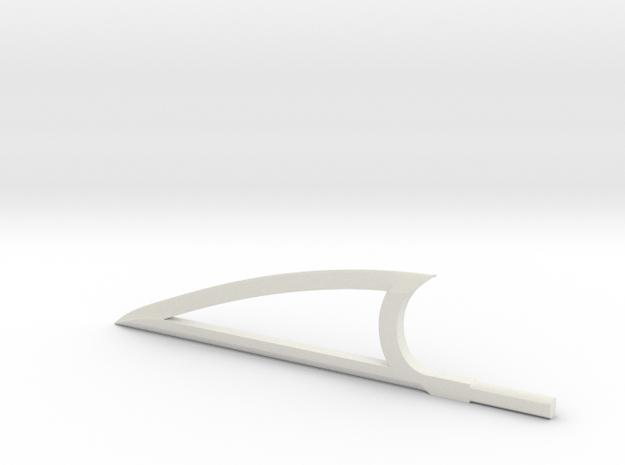 Sword Edge in White Natural Versatile Plastic