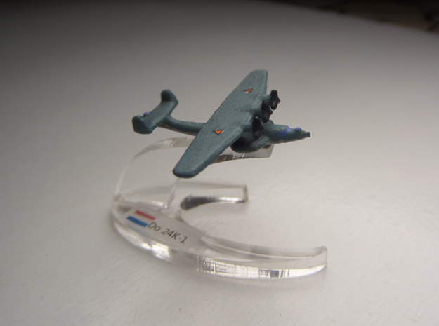Dornier Do 24 1:900 3d printed Comes unpainted without stand.