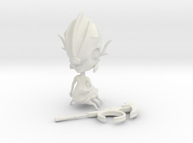 Emperor Percival Tachyon in White Natural Versatile Plastic