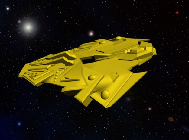 Cardassian Terokeen Class Viper Ship in White Strong & Flexible