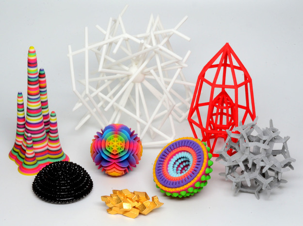 Crystal tessellation - imaginary rock collection 3d printed