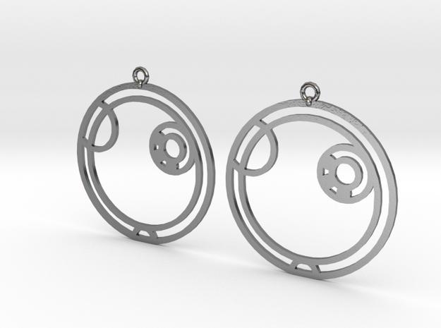 Alex - Earrings - Series 1 in Polished Silver