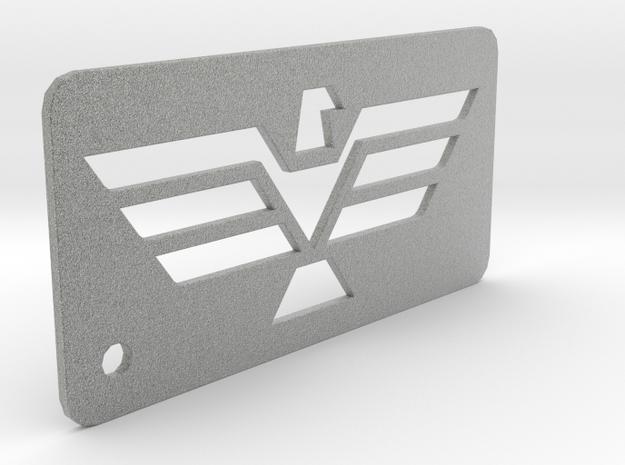 Eagle Dogtag Keychain in Metallic Plastic