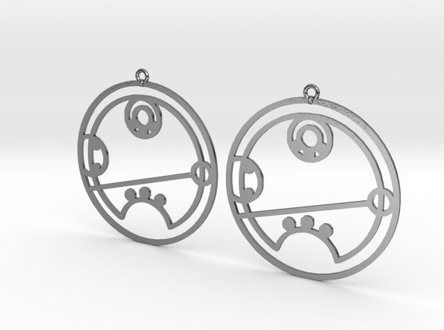 Riley - Earrings - Series 1 in Polished Silver