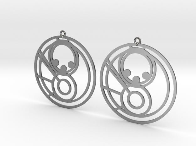 Milla - Earrings - Series 1 in Fine Detail Polished Silver