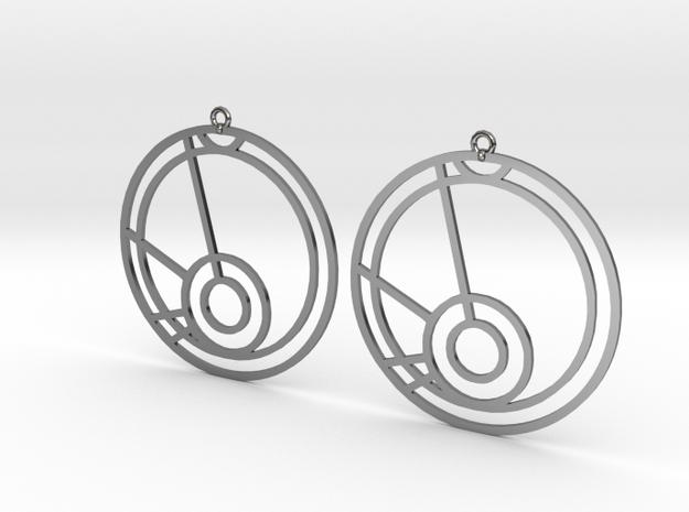 Mia - Earrings - Series 1 in Premium Silver