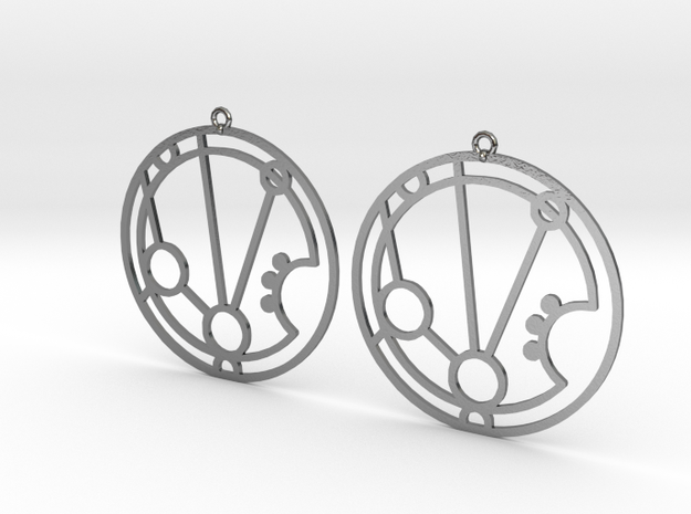 Mariam - Earrings - Series 1 in Polished Silver