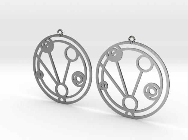 Makenzie - Earrings - Series 1 in Polished Silver
