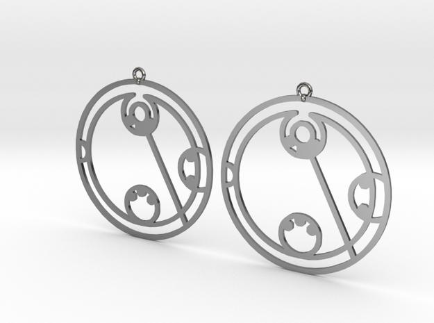 Lydia - Earrings - Series 1 in Premium Silver