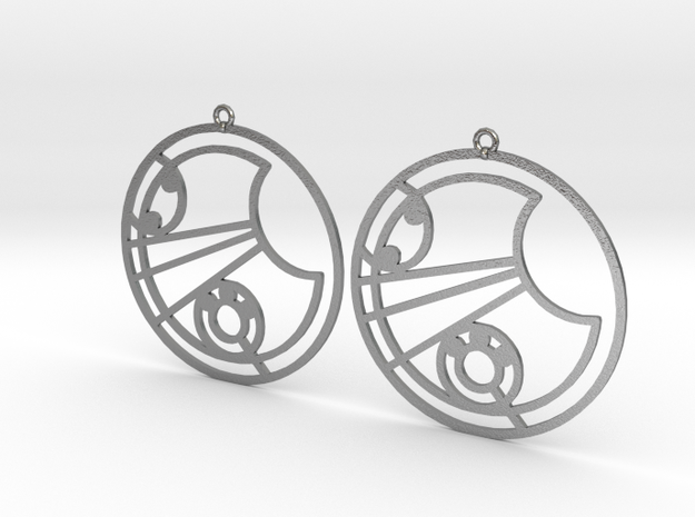 Lucy - Earrings - Series 1 in Natural Silver