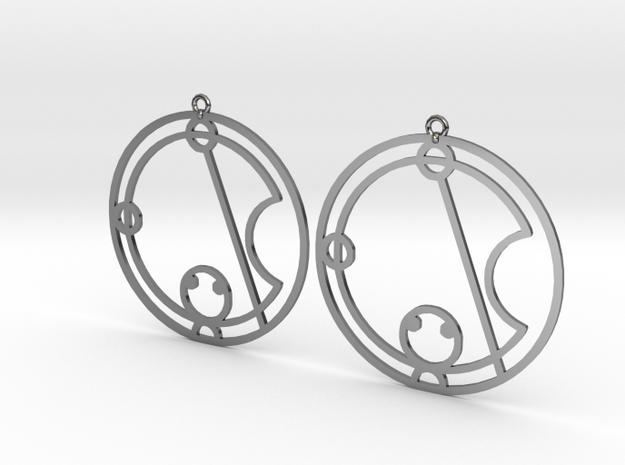 Katie / Catie - Earrings - Series 1 in Fine Detail Polished Silver
