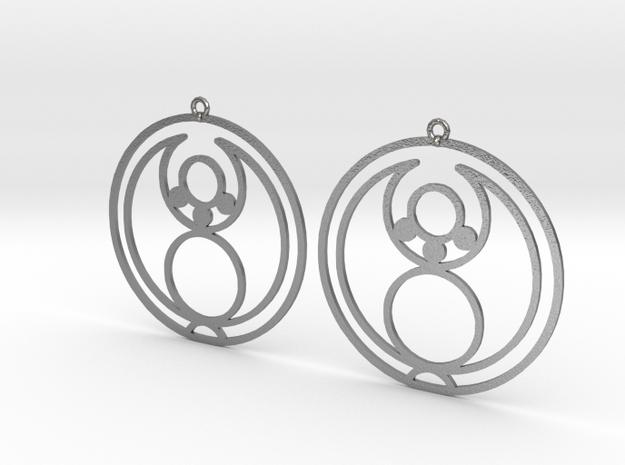 Jade - Earrings - Series 1 in Natural Silver