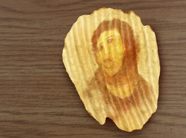 Potato Jesus, Miracle Potato Chip 3d printed