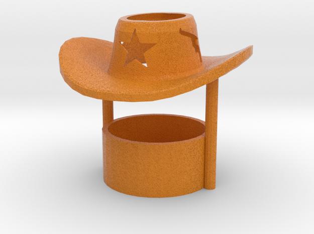 Tealight candle holder Cowboy Hat in Full Color Sandstone