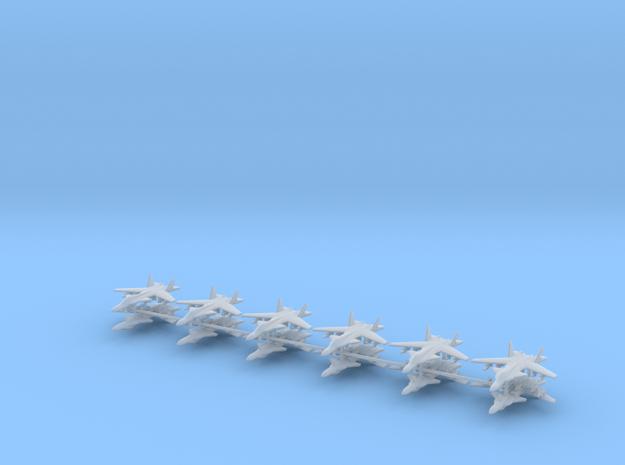 1/700 Su-47 Berkut (x12) in Smooth Fine Detail Plastic