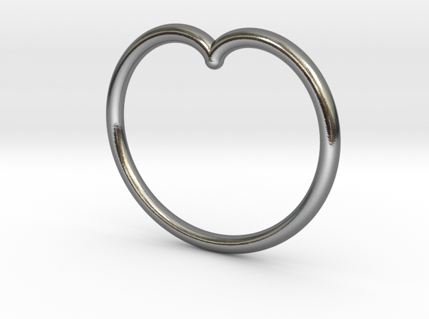 Simple Cardioid Pendant in Polished Silver