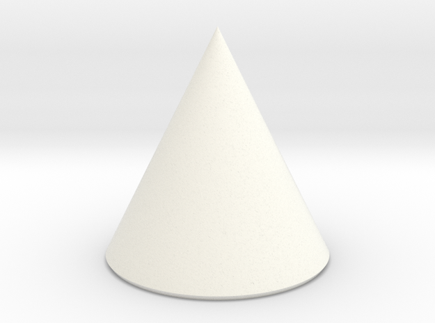 Basic Cone in White Strong & Flexible Polished