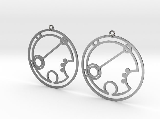 Brianna - Earrings - Series 1 in Polished Silver