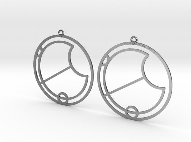 Eva - Earrings - Series 1 in Polished Silver