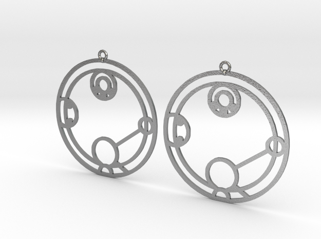 Hailey - Earrings - Series 1 in Natural Silver