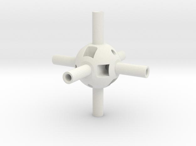 Multi-Gear Cube Kit Core in White Natural Versatile Plastic