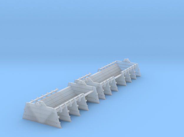 Coil E & G (ex Warflat) cradles with rivetted ends in Smooth Fine Detail Plastic