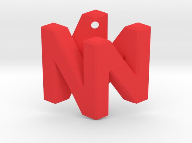Nintendo Logo Pendant in Red Processed Versatile Plastic