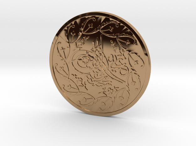 Carlson Coin in Polished Brass