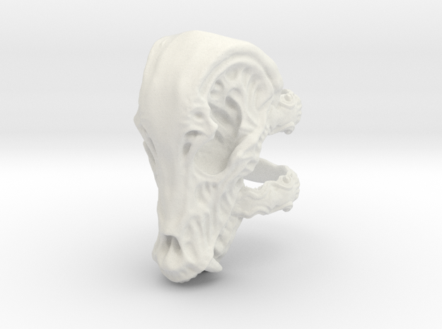Beastskull_S in White Strong & Flexible